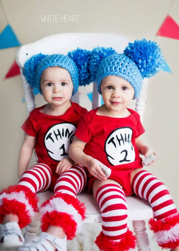 Halloween Costume, thing costumes, Costumes for kids, Dr. Suess Inspired Thing 1 Thing 2 Hat Twins Halloween