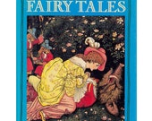vintage book The Classic Fairy Tales, history, background and original version of 24 fairytales, illustrations by Rackham, Greenaway, etc