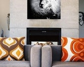 Lion Fine Art Photography - Wildlife Wall Art - Modern Black and White Animal Photo - African Artwork