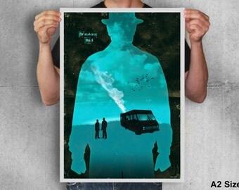 Breaking bad poster,breaking bad,heisenberg,poster,movie poster,digital print,print,art