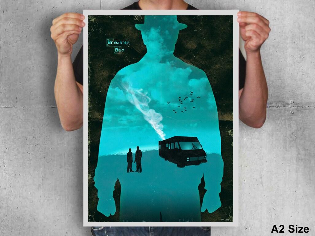 Walter white green apron - Breaking Bad Poster Breaking Bad Heisenberg Poster Movie Poster Digital Print Print Art