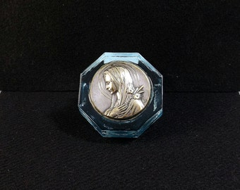 Artist Signed Medal in Glass Paperweight