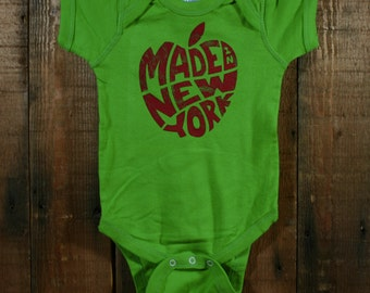 Made in New York Infant Bodysuit - Apple Green