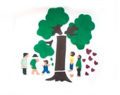 Felt Story - The Giving Tree - Felt Board Flannel Board Story Set - Montessori Toys