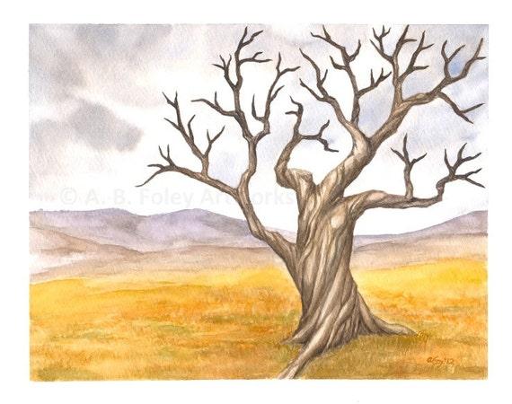 Hnliche artikel wie original aquarell baum malen - Baum malen ...
