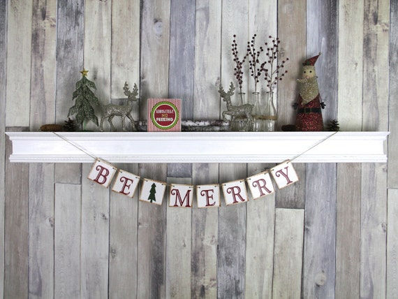 CHRISTMAS DECORATION Be Merry Christmas Banner - Christmas Photo Prop - Christmas Sign - Christmas Bunting - Christmas Garland
