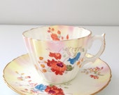 English Bone China Moore Tea Cup and Saucer Tea Party
