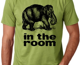 Elephant in the Room T-Shirt Men's Graphic Tee S M L XL Preshrunk
