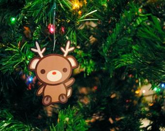 Gingerbread Cookie Cat Ornament Kawaii Christmas Tree