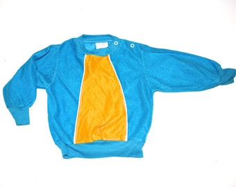 RETRO BABY - Vintage Shirt - Turquoise and Yellow Gold - Hip Baby