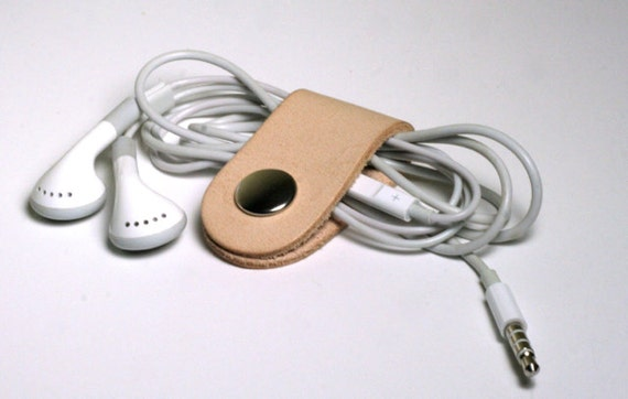 Leather Headphone Cable Organizer