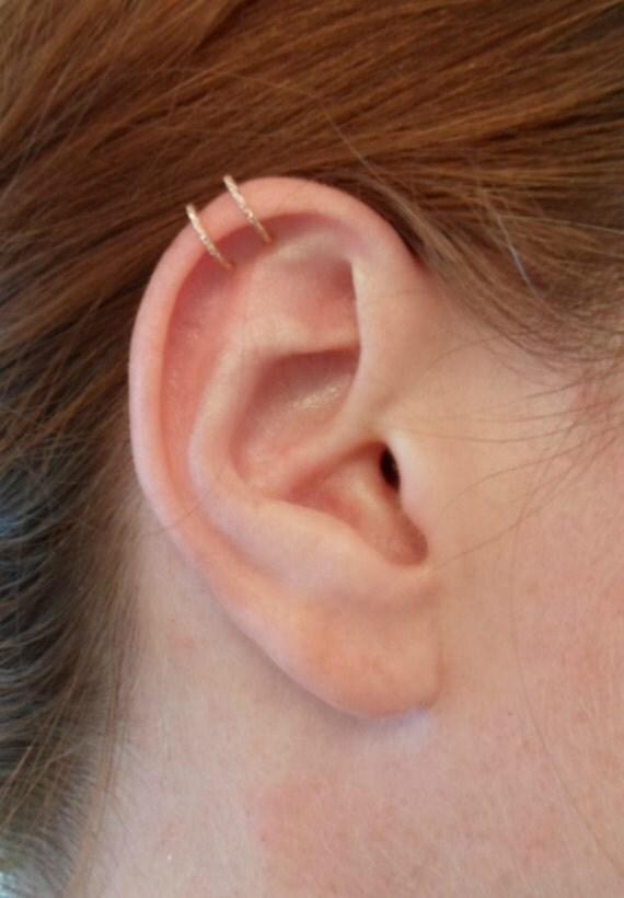 ear cuff bague d 39 oreille double anneau oreille par alufolie sur etsy. Black Bedroom Furniture Sets. Home Design Ideas