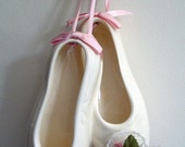 Vintage Ceramic Ballet Slippers, A Decorative Wall Hanging For Bedroom, Living Room, Dance Studio, Anywhere!