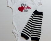 Baby Boy Outfit Leg Warmers The Ladies Love Me