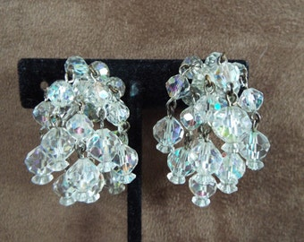 vintage Laguna  crystal dangle earrings