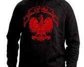 Polska Eagle Hoodie Retro Polish Pride Polonia Polo Soccer Futbol Vintage Crest Shield Hooded Sweatshirt S-2XL