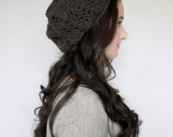 SALE Women's Slouchy Hat in Nature Brown // The Ainsley