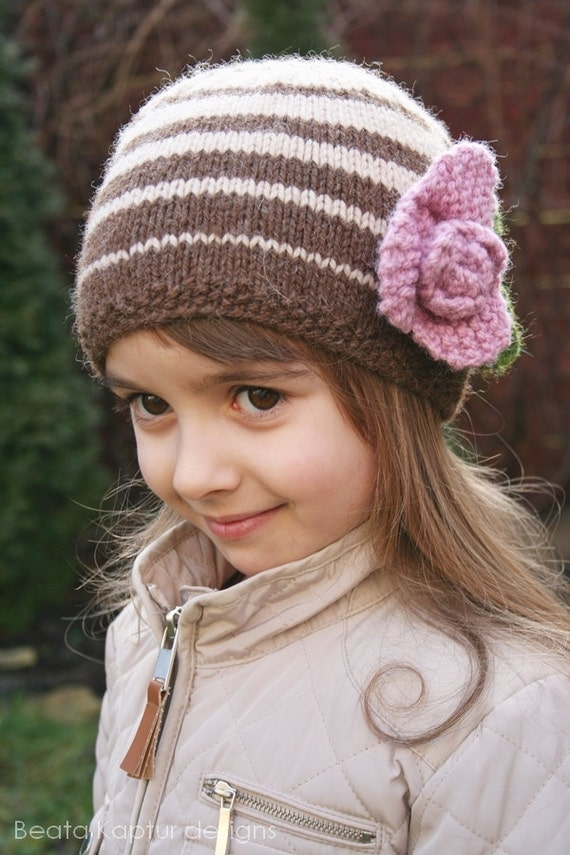 Toddler Beanie Knitting Pattern : Julia Beanie Hat Knitting pattern Toddler by beatakapturdesigns