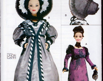 Linda Carr Designed Vogue Craft Historical Doll Clothes Pattern 1820 and 1830 For 11.5 Inch Fashion Doll
