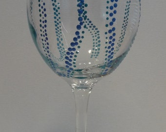 Wine Glass Tentacles Blue