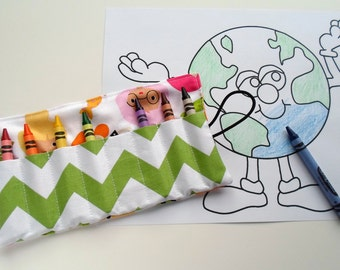 Crayon Roll Mermaid Friends -- Great Party Favors