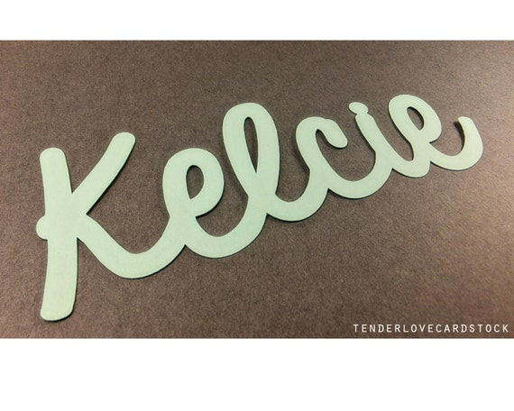"Custom Handwritten Name Die Cut  - Choose your color and size! 3"" - 10"""