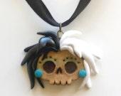 Lil'Skully's Inspired Cruella De Vil Handmade Polymer Clay Pendant, Pin, or Magnet