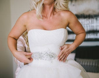 Crystal Wedding Belt, Bridal belt, Beaded Wedding Sash