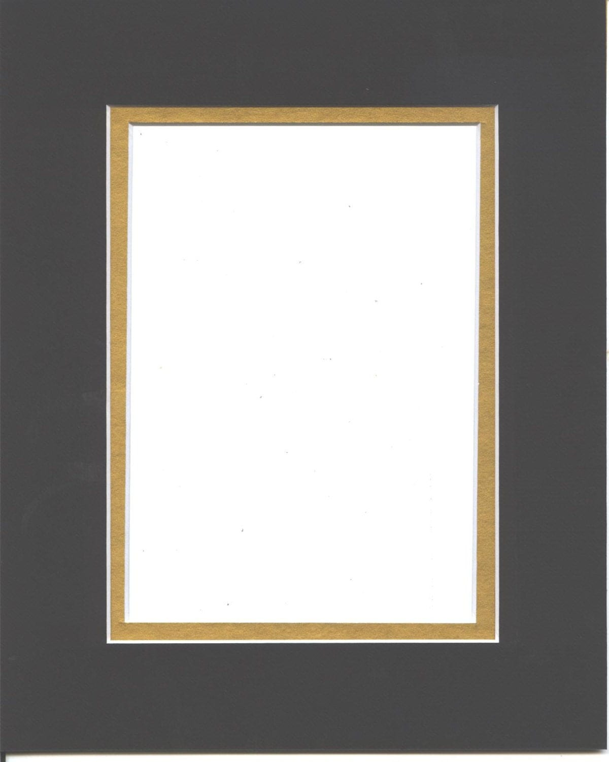 22x28 Black Amp Gold Double Picture Mat With White Core Bevel