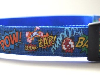 Comic Dog Collar Adjustable Sizes (M, L, XL)
