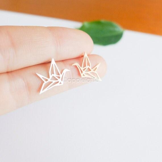 origami crane earrings by applelatte on Etsy - photo#34