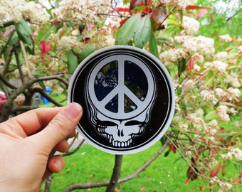 Steal Your Face / World Peace Forever / Grateful Dead / High Quality Vinyl Sticker