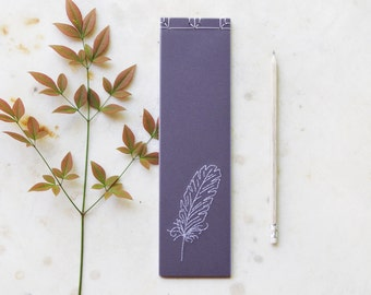Feather. Hand Embroidered Violet Notebook. Romantic Lilac To Do List. Account Book. Purple Notepad. Mauve Shopping List. Lavender Jotter