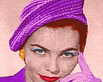 Almost FREE Vintage 1940s Elegant Curlicue Hat 313 PDF Digital Crochet Pattern