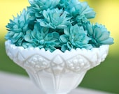 "10 4"" Teal Wooden Flowers, Wedding Decorations, Wedding Flowers, Peacock Wedding"
