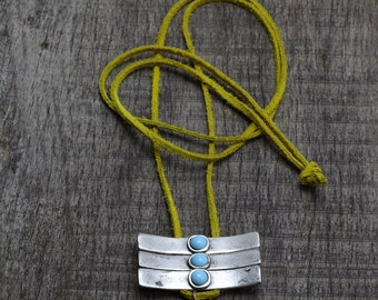Long Necklace,,silver-plated, Bohemian Jewelry - Leather Necklace - Long Necklaces,
