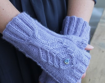 PDF knitting pattern for Wrist Assured Wrist Warmers
