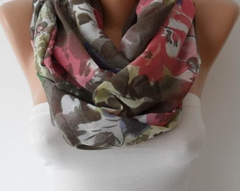 Christmas Gift Soft Colors Chiffon Infinity Scarf Gifts For Women Winter Women Fashion Accessories Christmas Gift For Her Black Friday