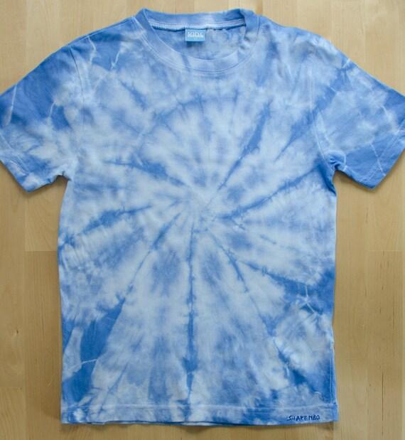 Blau weisses shirt batik t shirt kinder gr sse 122 for Men s batik bay silk blend button down shirt