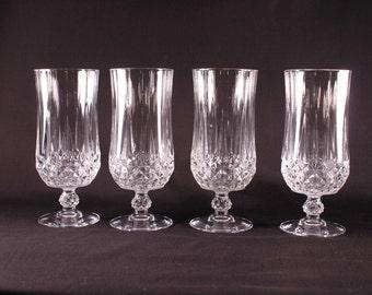 Cristal D Arques Longchamp Tea Goblets Stemmed Crystal