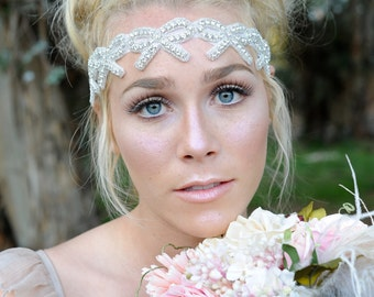 Crystal Headband, Bridal Headband, Wedding Hair Piece