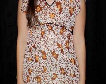 90s Sheer Floral Sun Dress