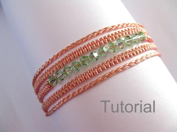 Macrame bracelet necklace pattern tutorial pdf two in one pattern
