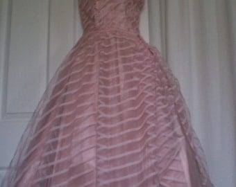 Stunning PROM PRINCESS Pink Vintage 50's Party Prom Dress