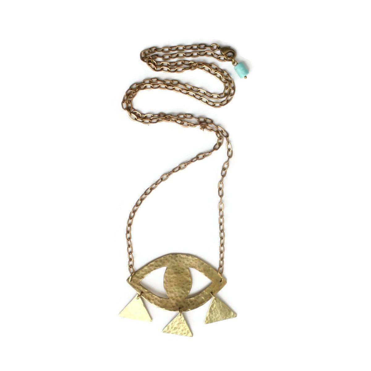 oracle third eye necklace by tzunuum on etsy