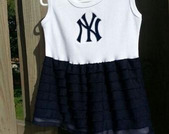 Ruffle dress New York Yankees navy blue ruffle dress