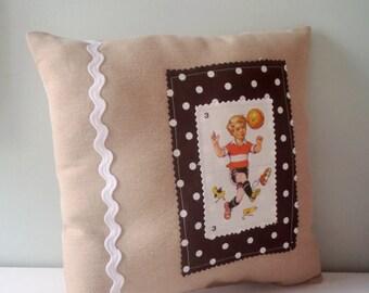 FILLED Pillow Football vintage boy Retro