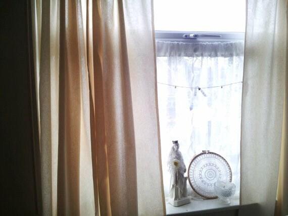 Tende da finestra, tende Shabby, tende in cotone, tende cucina, tende ...