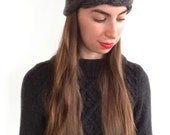 The Mina (Top Braided Headband) in Granite