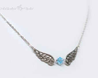 Final Fantasy Inspired Wing Crystal Necklace